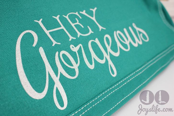 """Make your Silhouette Cameo Cover talk! How I created my """"Hey Gorgeous"""" Cover using Heat Transfer Vinyl #silhouettecameo #htv #vinyl #irononvinyl #vinyltutorial #heattransfervinyl"""