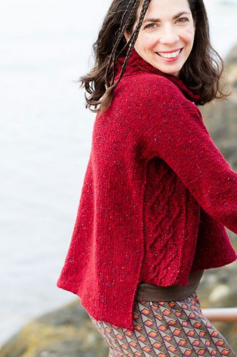 In celebration of my knitting trips to Ireland this year I have designed a sweater with yarn made in Donegal!