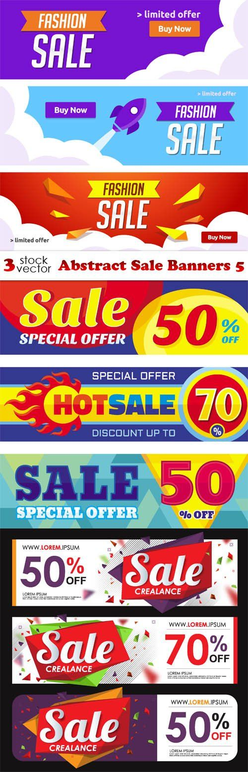 Vectors - Abstract Sale Banners 5