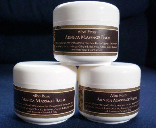 Arnica Massage Balm ~ Alba Rosa
