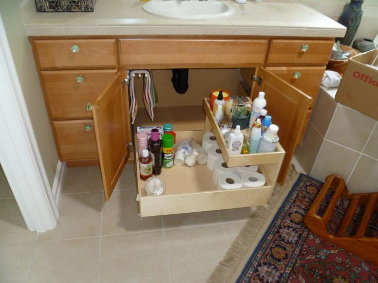 Pull out shelves for bathroom vanity