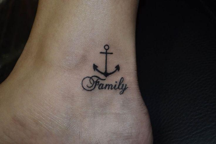 Tom Barker.tattoo_wien #wien tattoo #tattoo #klein tattoo #anker tattoo #family tattoo