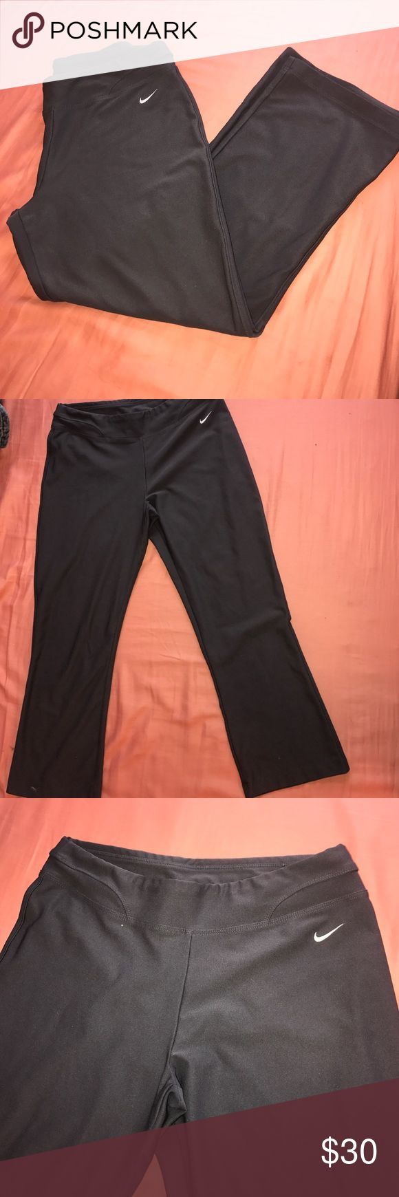 Nike Dri-Fit Training Capris Mid-rise; Excellent Condition; Stops right at the calf muscles; Great for working out or athletic activity; Satisfaction guaranteed! MAKE ME AN OFFER. Want me to model it? Just comment below! Nike Pants Capris