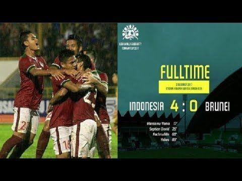 Indonesia vs Brunei (4-0) FULL Highlights & All goals - Tsunami Cup 2017...
