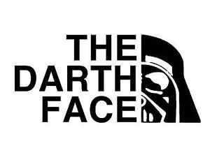 The Darth Face Vinyl Decal Window Laptop Sticker Oracal Vader Star Wars Empire | eBay