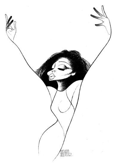 Diana Ross by Al Hirschfeld