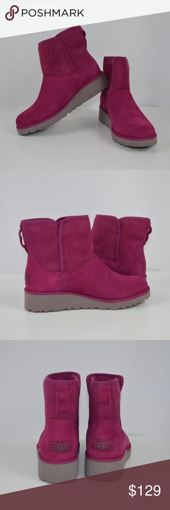 New UGG Kristin shearling boots size 6 New with box but no top. Part of the Classic Slim™ Collection, this evolution of the Classic Mini features premium materials, expert craftsmanship, and signature comfort in a slimmer silhouette. Rendered in plush materials that have been pretreated to repel water and stains, the Kristin also features added arch support, a small wedge, and the innovative Treadlite by UGG™ outsole for incredibly lightweight traction, cushioning, durability, and…