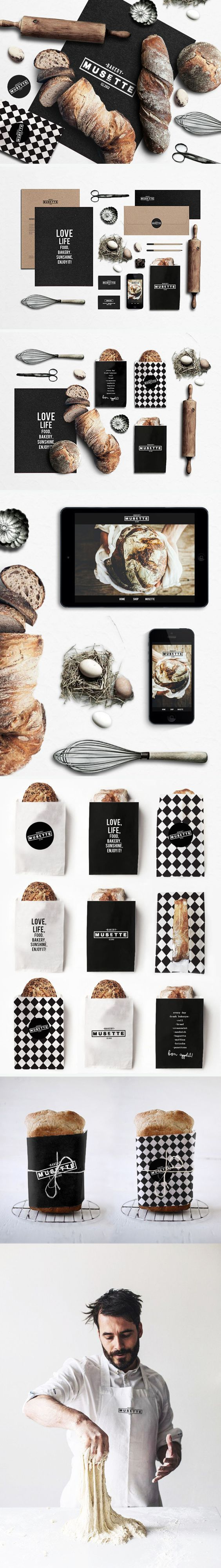 Musette bakery Identity, packaging, branding. Boy do I want some of this bread PD:
