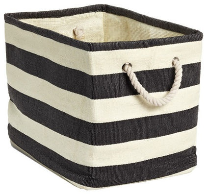 Add to ideabook by The Container Store  Rugby Stripe Bins - $9.99»