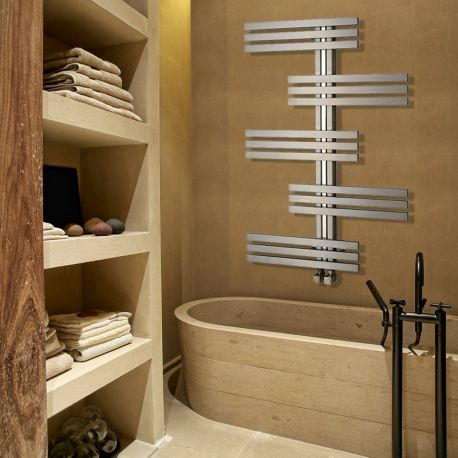 "Aeon ""Linx"" Designer Brushed Stainless Steel Towel Rail / Radiators (3 Sizes) - NWT Direct"