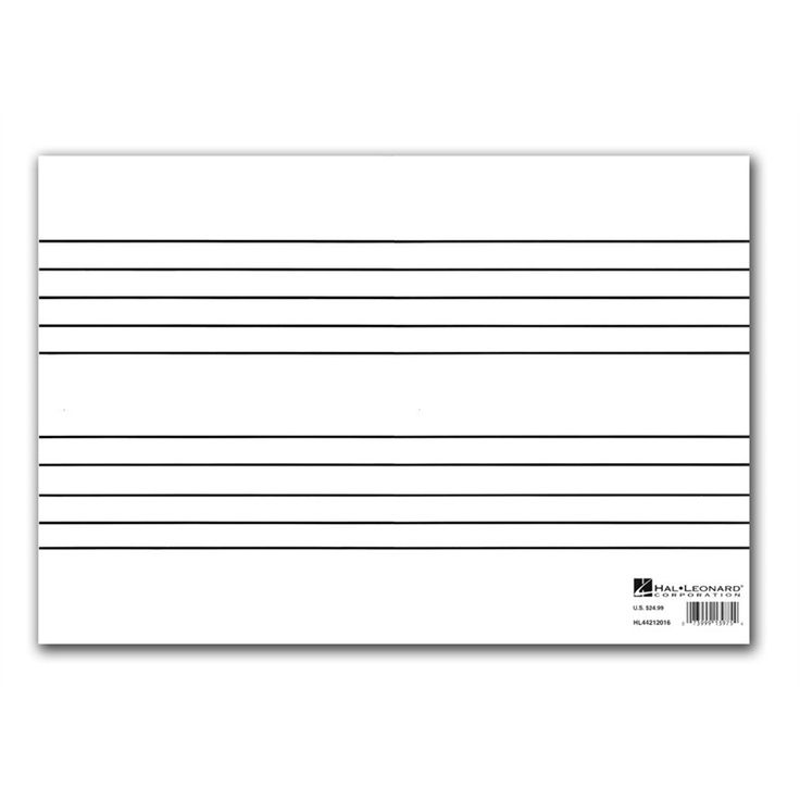 Erasable Lap Boards Set of 10 ( 530451), Blank Music Sheets, Staff Paper &…