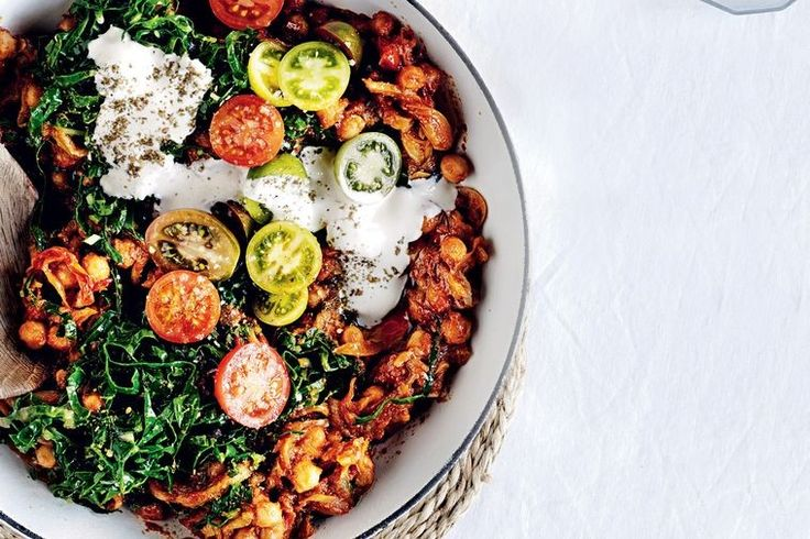 Harissa chickpea and silverbeet