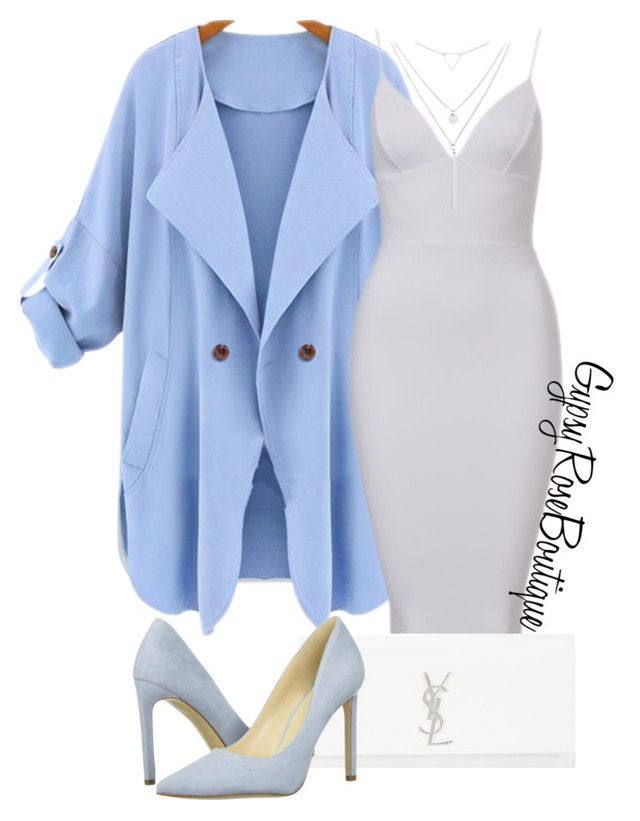 """""""#505"""" by gypsyroseboutique on Polyvore featuring WithChic, Yves Saint Laurent, Nine West and Riah Fashion"""