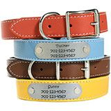 Personalized Leather Dog Collars.