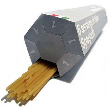 spaghetti with portion control packaging. genius!