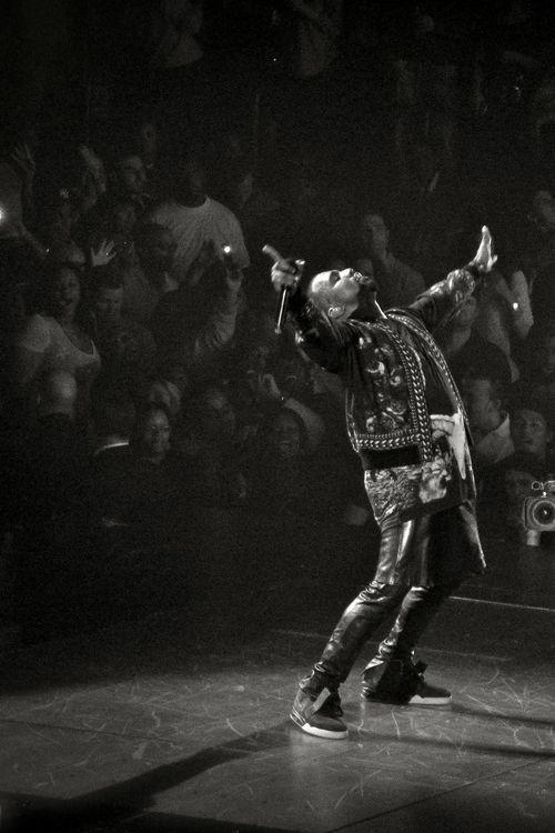 Kanye looks like he's really feeling himself.  yeezus.