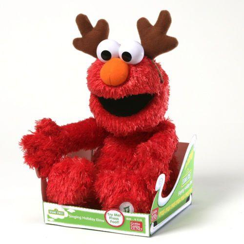 "GUND 14"" Sesame Street Sing a Long Elmo Christmas PlushToy Stuffed Animal Music"