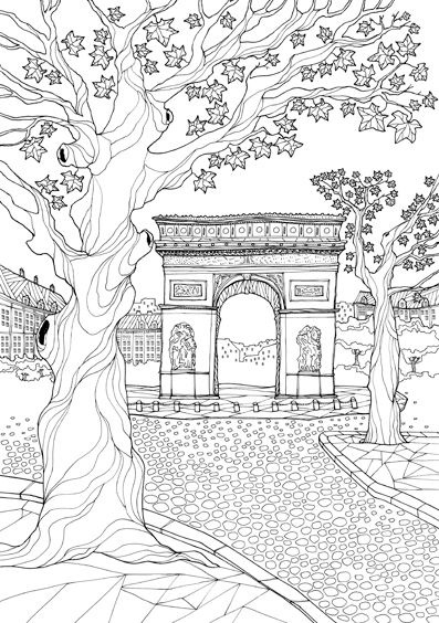 200 best Coloring pages to print - Cities images on Pinterest - best of coloring pages for christmas in france