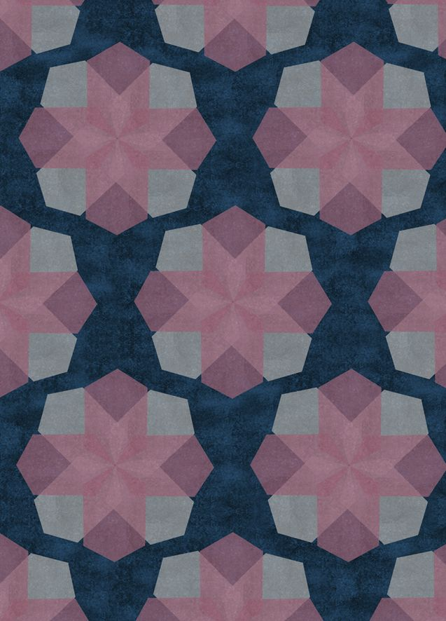 Floral Geometry - A live project set by Voyage Interiors to design a range of fabrics & wallpapers, 2010. All images © Laura Jobling