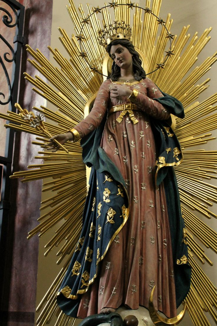 top ideas about her love our lady of our lady as the immaculate conception a statue in the church of st bernardino