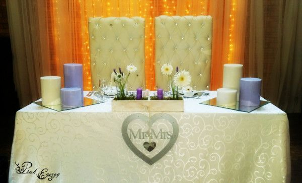 Sweetheart table - Makiti - Floral Design & Decor  by www.pinkenergyfloraldesign.co.za