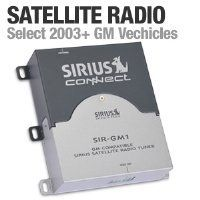 Sirius SIRGM1 Connect for GM Radios by Sirius Satellite Radio. $20.00. Upgrade your GM 2003 and up stereo to Sirius radio with the new Sirius Connect. This package includes everything that's necessary for you to play SIRIUS through your compatible factory stereo: a SIRIUS radio, a roof-mount antenna, and the adapter cable that connects the radio to your stereo. You can mount the compact radio easily in a convenient spot behind the dash. The adapter cable hooks up to the radio a...