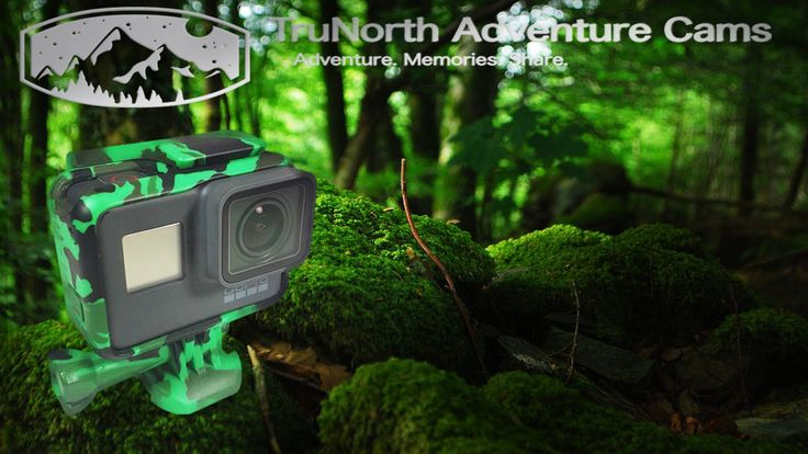 Gator Green Camo housing for gopro hero 5. Take your action camera to the outdoors, camping, hiking, fishing or hunting! Share your Adventure!