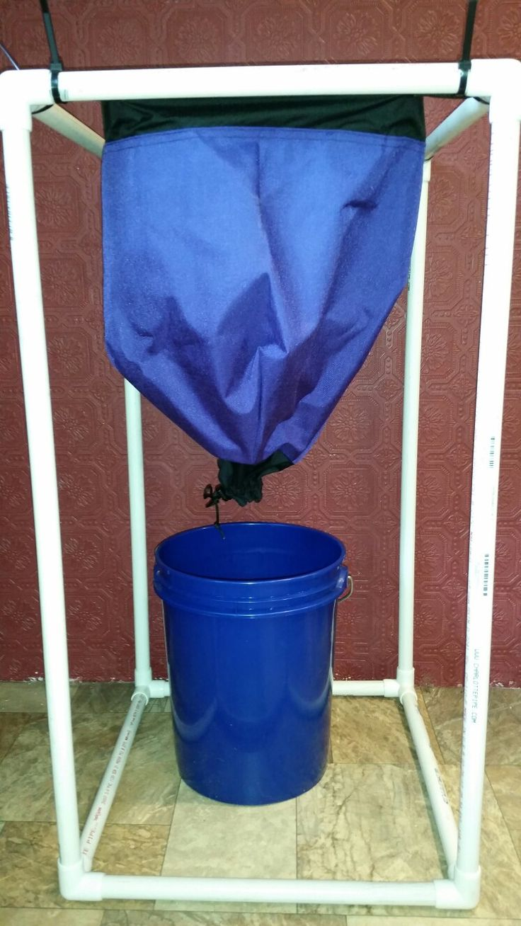 Worm inn (standard size) breathable composting bag with stand (I made using PVC pipe)