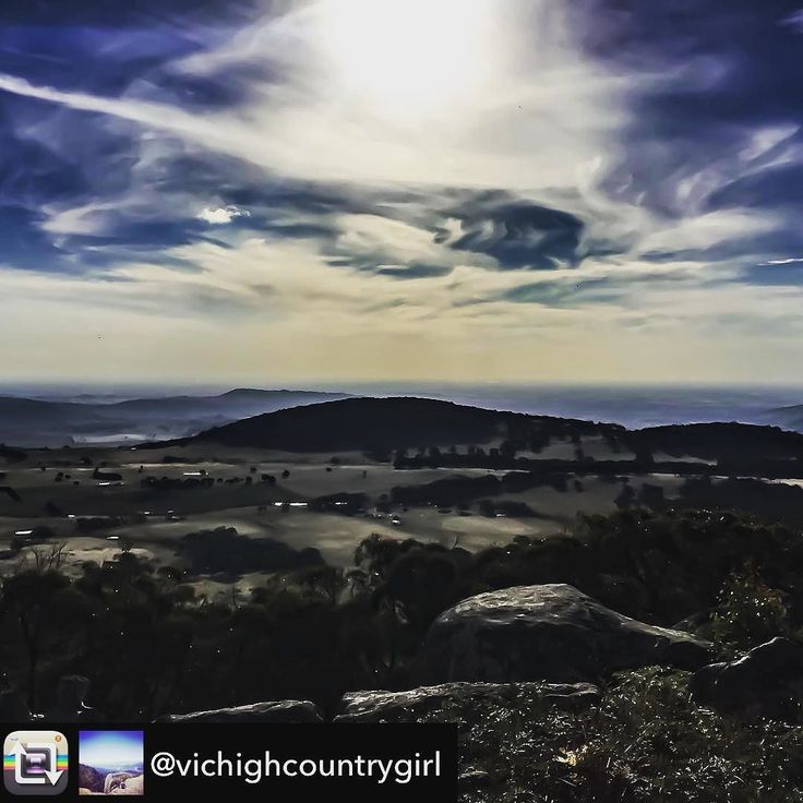 Amazing view from Mt Wombat snapped by @vichighcountrygirl Couldn't help but share. #visitheartofvic