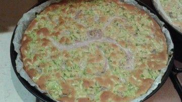 Focaccia di farina di piselli con zucchine e tonno fresco. – Ricette Dieta Gruppo Sanguigno