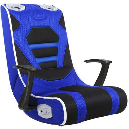 Gaming Chair Blue Black Fair Lakes Techies Gaming