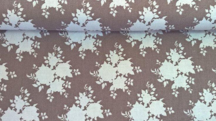 Stoff Blumen - Tilda Quilt Collection Sally brown - ein Designerstück von Stoffe-guenstig-kaufen bei DaWanda