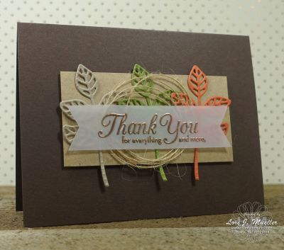 StampinDreams.com    Stampin Up; One Big Meaning stamp set; Flourish Thinlits