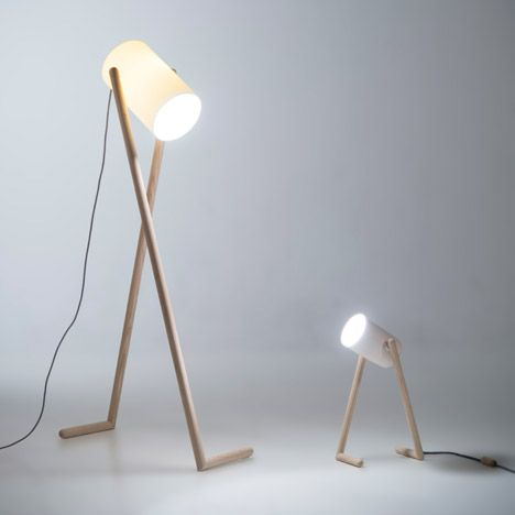"London Design Festival 2014: Bergen Academy of Art and Design student Hedda Torgersen designed this desk lamp to look like a ""long-legged character""."
