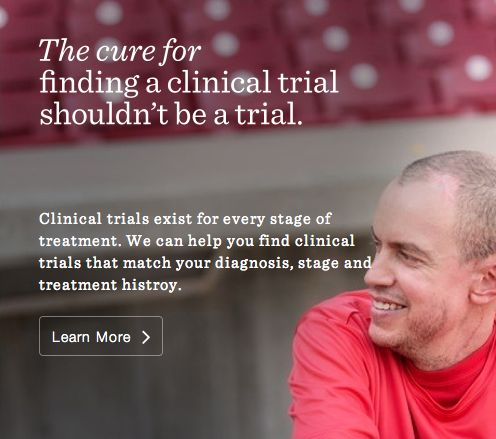 #LIVESTRONG can connect you with clinical trials based on your #cancer needs, so finding a trial doesn't have to be one. #DailyCures