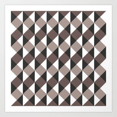 Pattern Gray Art Print by Sonia Marazia - $15.60