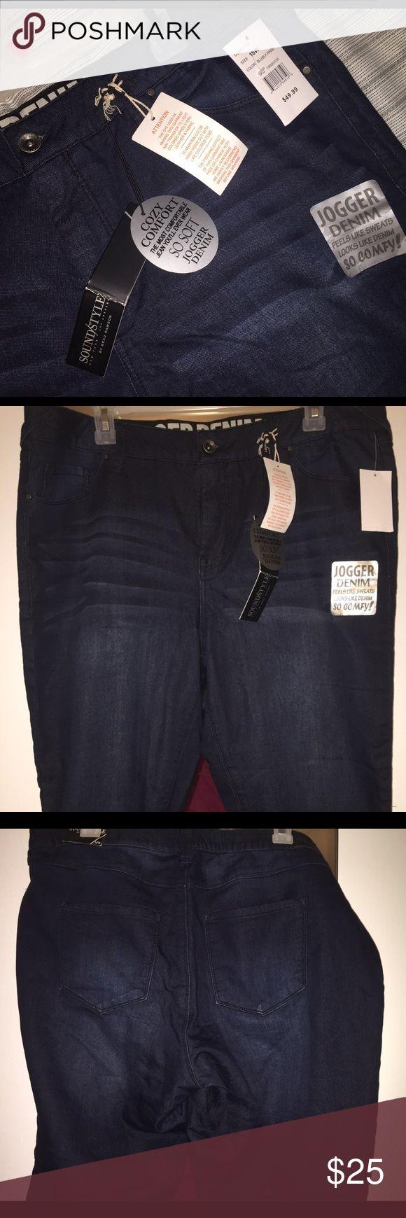 Sound Style Jogger Denim Capri pants Sound Style Jogger Denim Capri pants Sound/Style Jeans Ankle & Cropped