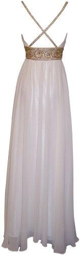 Amazon.com: Greek Goddess Chiffon Starburst Beaded Full Length Gown Prom Dress Junior Plus Size: Clothing