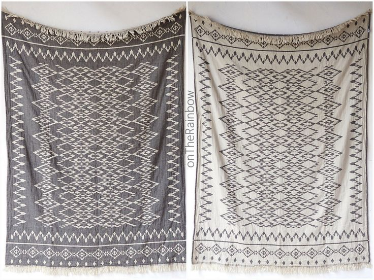 Aztec Throw Blanket | Navajo Picnic Blanket | Modern Black White Southwestern Sofa Throw Couch Wrap | Tribal Beach Towel | Housewarming Gift by onTheRainbow on Etsy https://www.etsy.com/listing/265806206/aztec-throw-blanket-navajo-picnic