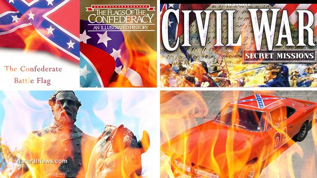 The book burning begins: Movies, book covers and computer games being banished... calls for taking down the American flag, bulldozing Southern memorials, removing flags from children's toys and more (Apple is the New Nazis,makes them worse than all the Confederate flags put together)..ALL THIS OVER-OVER REACTING BC OF 1 SICK PERSON...are people that bored & shallow to go along??? SMH! RETORICAL....