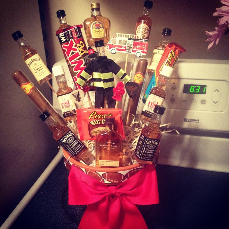 """The man bouquet or """"broquet"""" I made my firefighter boyfriend for his birthday!"""