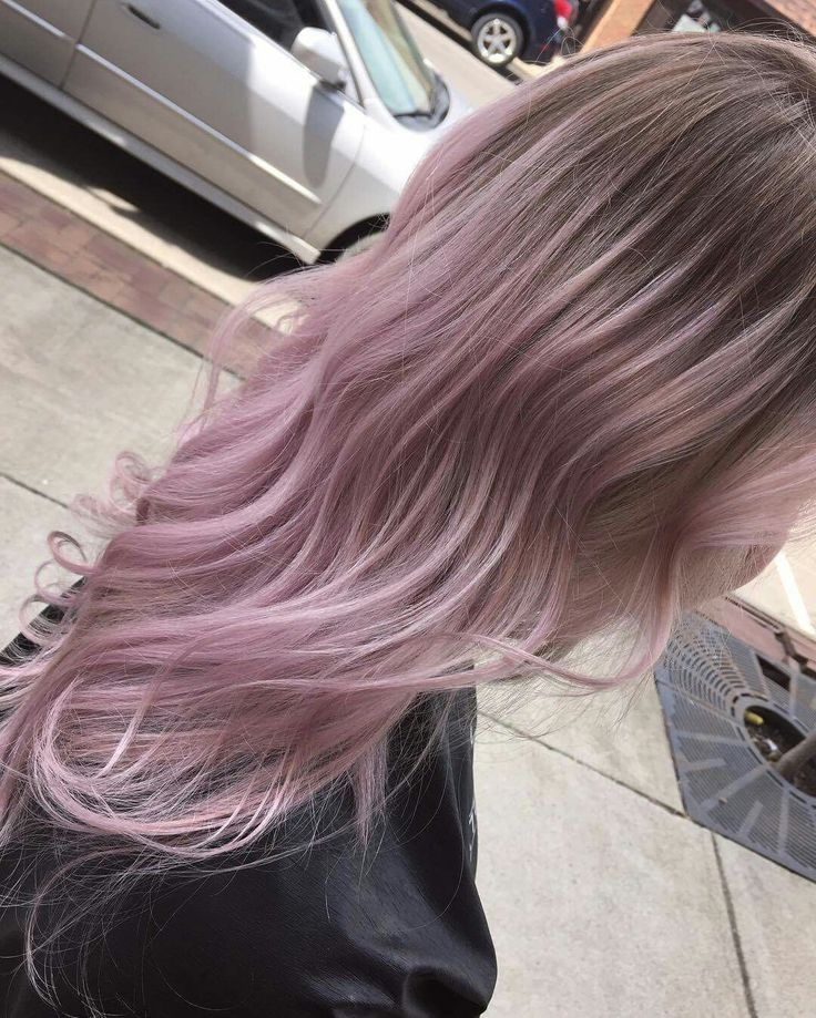 Blush pink balayage ombre pastel pink hair by Ashton @ Splat Hair Design