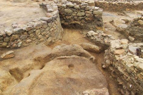 Excavación en el Monte do Castro, en la localidad pontevedresa de Ribadumia (Spain)