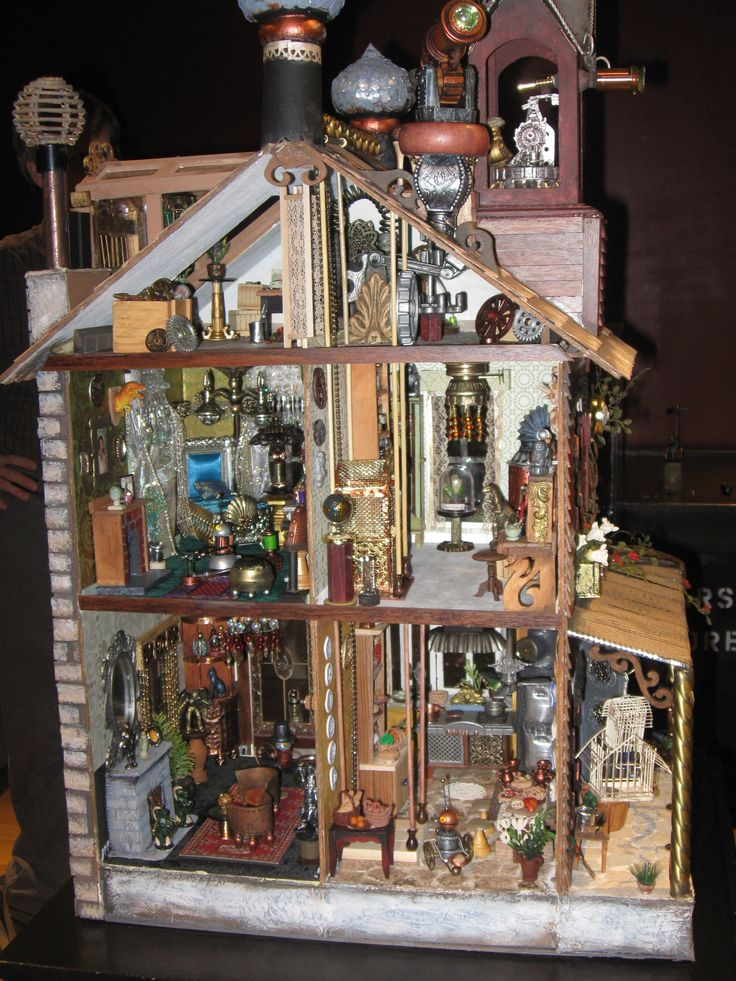 steampunk dollhouse interior