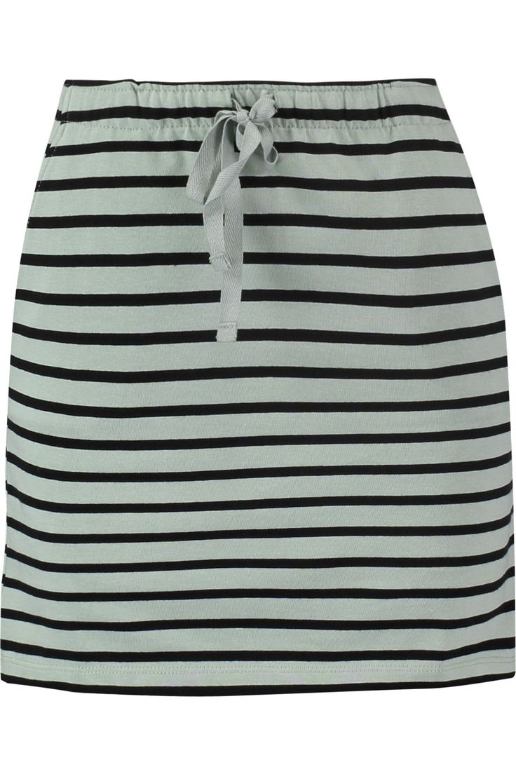 Striped stretch-cotton mini skirt | GANNI | Sale up to 70% off | THE OUTNET