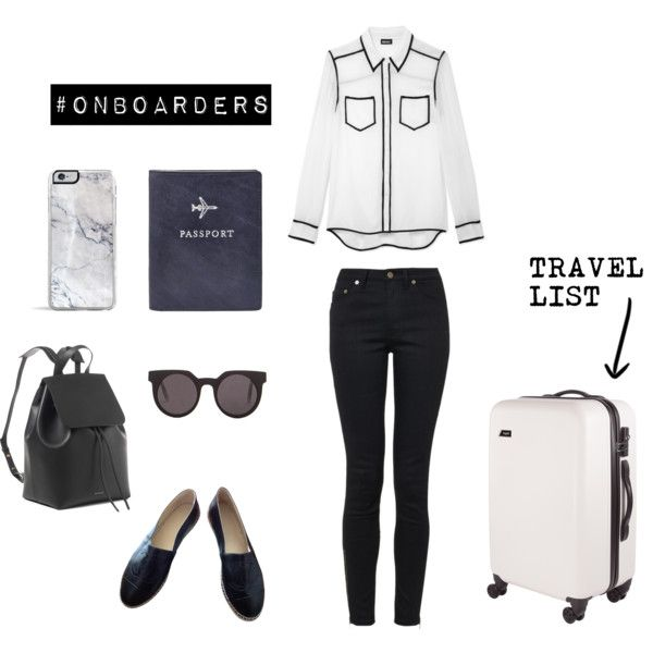 Onboarders Travel List by alcalams on Polyvore featuring moda, DKNY, Yves Saint Laurent, Chanel, Quay and FOSSIL