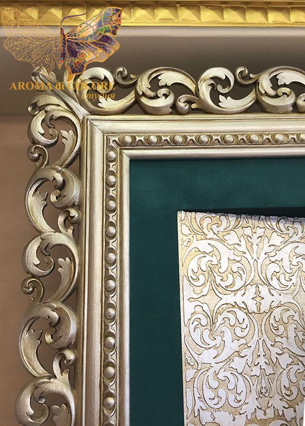Золочение рамы для телевизора на стену / Студия Аромат цвета - Художественная роспись стен и потолков. Цены в Москве. 12 лет опыта, более 600 работ в портфолио.