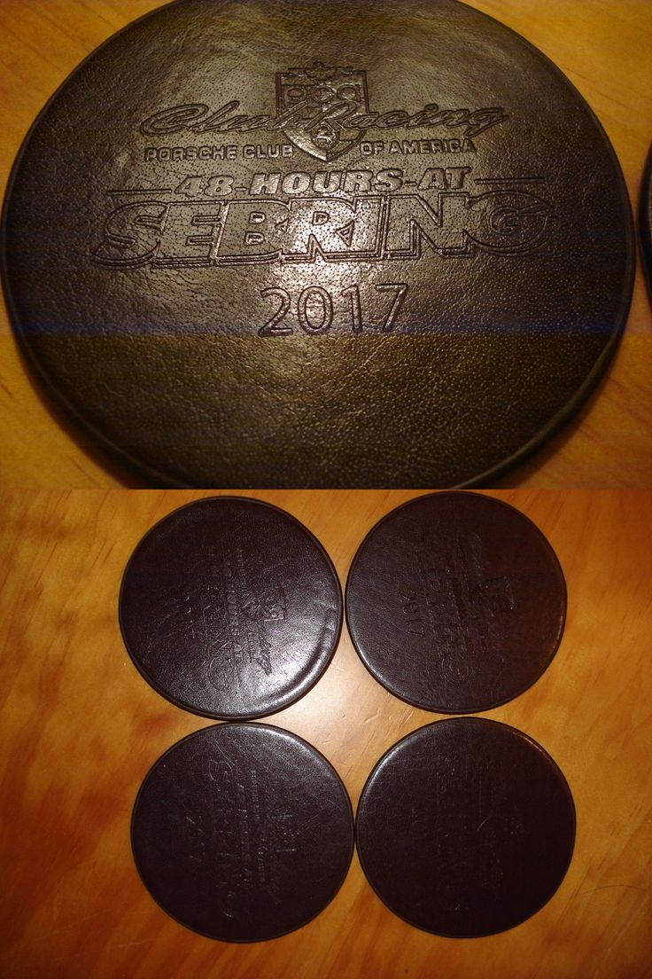 Coasters 36026: Porsche Club Of America Leather Embossed Coasters 48 Hours At Sebring 2017 -> BUY IT NOW ONLY: $35 on eBay!