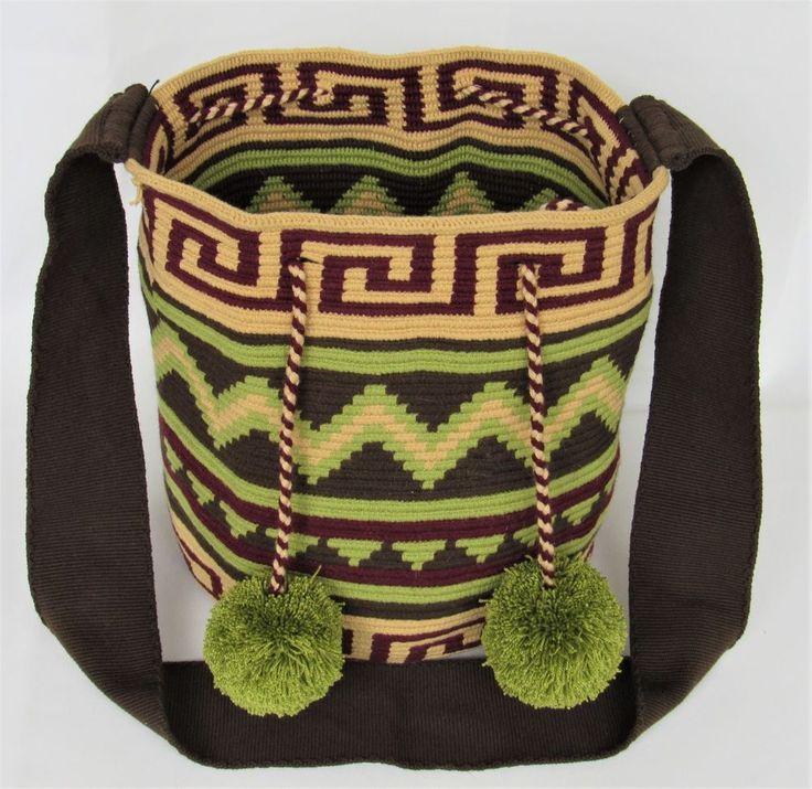 AUTHENTIC WAYUU MOCHILA LARGE SIZE HANDMADE BUCKET / CROSS BODY BAG #Handmade #ShoulderBag