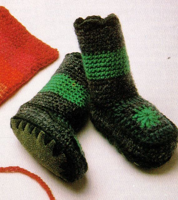 VInTAGE 70'S BABY SLIPPeR SoCKS WITh SUeDE by Crafting4Ever2013, $1.50